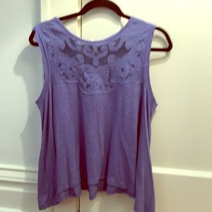 Free people NWT lilac top lace detail Sz xs purple